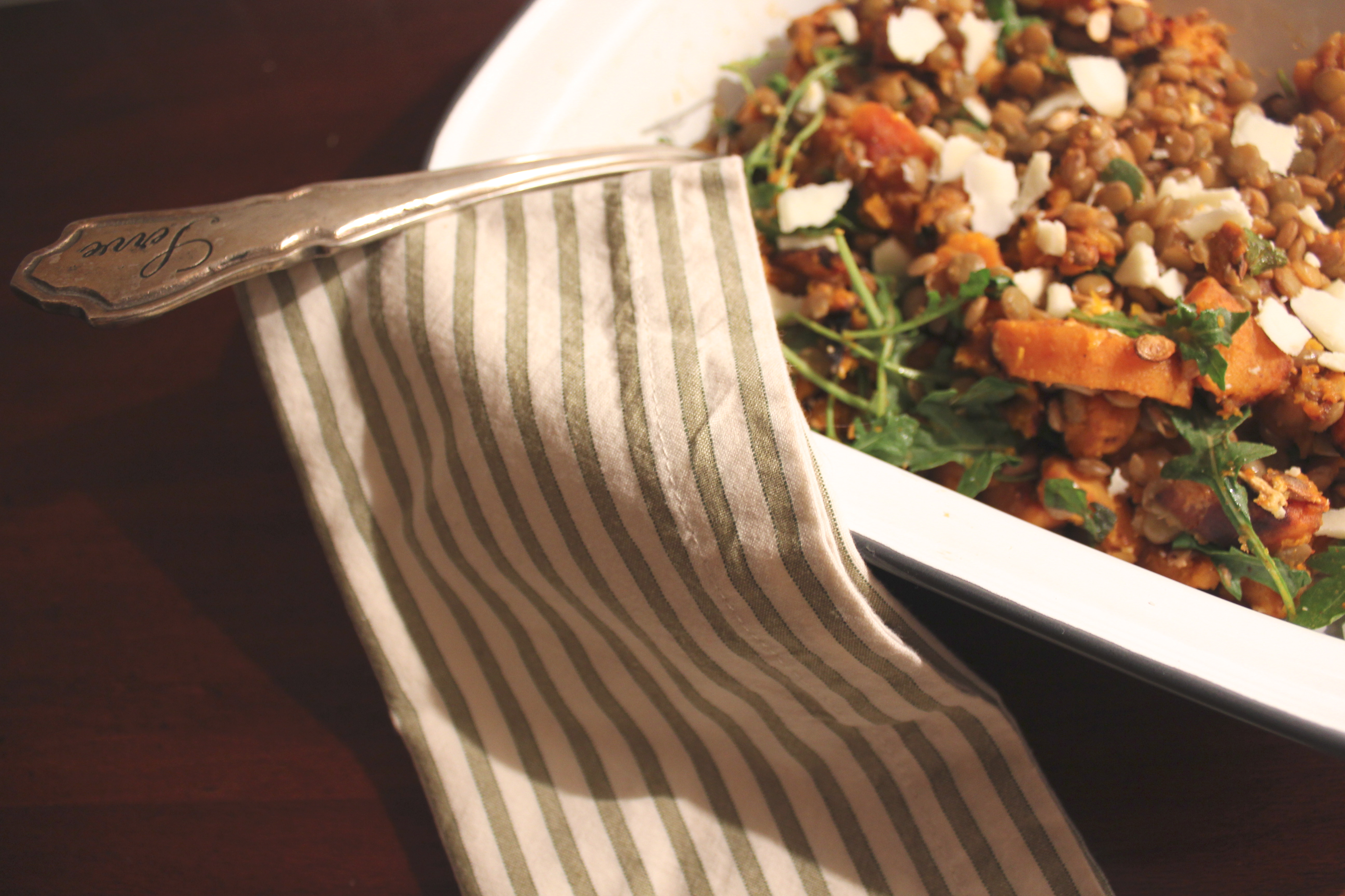 Spicy Squash Salad With Lentils And Goat Cheese Recipe ...