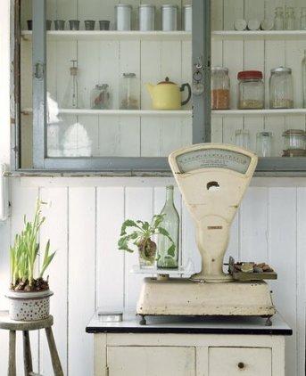 vintage scale plant holder
